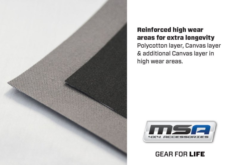 Reinforced High Wear Area - Premium Canvas Seat covers - MSA 4X4 Accessories for 4WD Vehicles