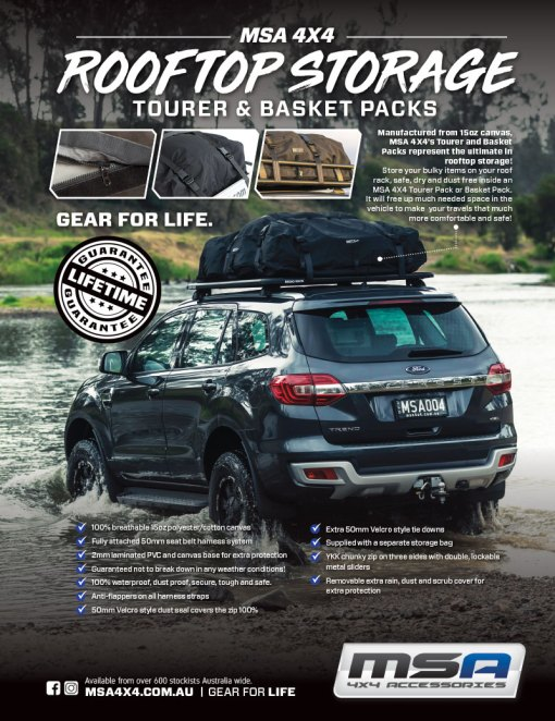MSA 4X4 Tourer and Basket Packs Advert