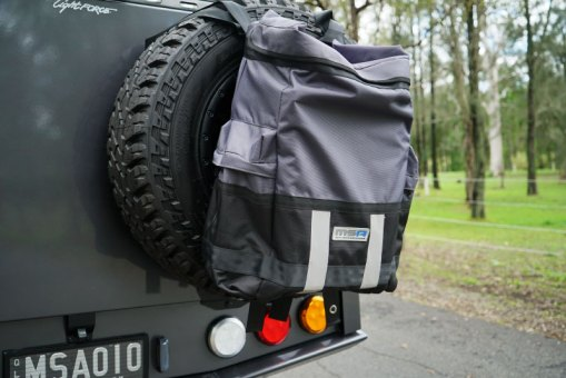 Rear Wheel Bag on Toyota Hilux - Close Up -Product of MSA 4X4 Accessories
