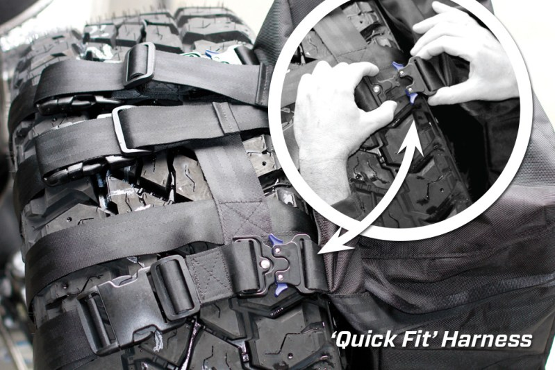 'Quick Fit' Harness - Removable Rear Wheel Bag - MSA 4X4 Accessories