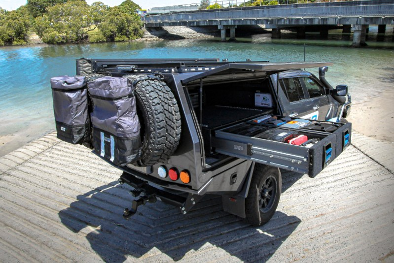Rear Wheel Bag by MSA 4X4 Accessories 4WD equipment installed on Hilux