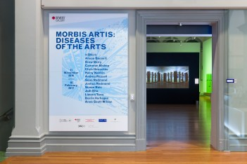 RMIT Gallery 2016 Morbis Artis: Diseases of the Arts Date: 17 NOV 2016 - 18 FEB 2017 Location: RMIT Gallery, City campus Morbis Artis explores the radical conjunction between the biomolecular and the artistic, and the thin doorway between life and death housed within discourses of disease.
