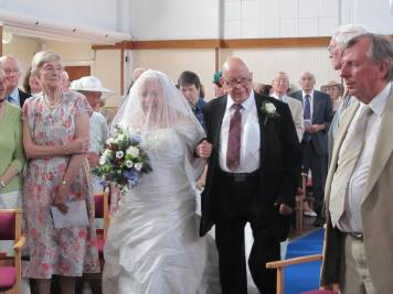 Uncle Bob gives the Bride away