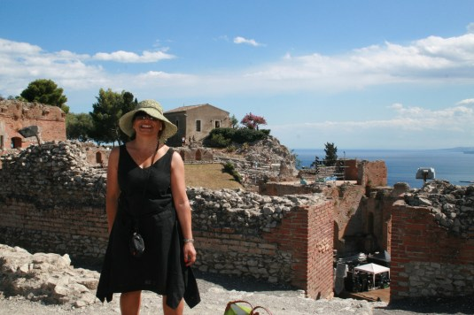 At the Amphitheatre in Taormina