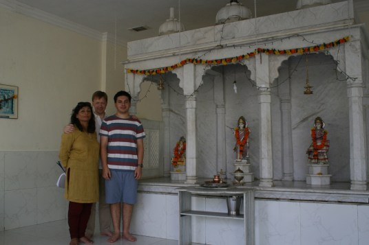 Here were are at the little temple attached to the resort.