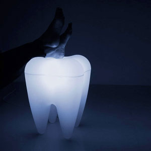 Glowing tooth stool!!  I want one!!