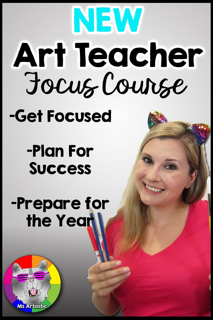 This New Art Teacher Course teaches new art teachers strategies to help them GET FOCUSED and PLAN FOR SUCCESS in: Planning the Year, Classroom Management, Classroom Rules and Procedures, Classroom Community, Creating a Classroom, Back to School, Assessment, and Participation Techniques.