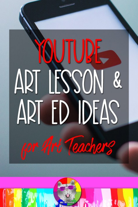 In this Blog Post I am going to talk about how you can bring YouTube into your classroom and how-to use it to teach new art making skills and techniques to your students, whether you're in class teaching, remote learning, or if students are in class and need new skills or processes to learn and explore. Or maybe you want to visit a gallery but don't have the budget… Or maybe you want to have a fun drawing tutorial to use in those odd 10 minutes left in class when a lesson ended early, or to allow as a when you're done for your fast finishers… Let's look at some cool ideas for using YouTube in your Art Classroom this school year. #youtube #msartastic