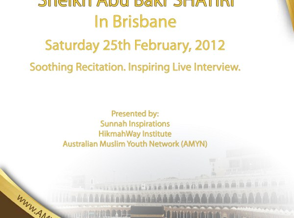 Sheikh Abu Bakr Al-Shatry in Brisbane
