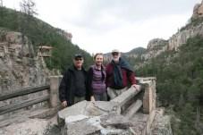 Jim, Debbie, Alan waterfall Creel