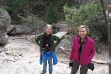 Anne, Debbie waterfall Creel