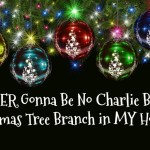 Ain't EVER Gonna Be No Charlie Brown Christmas Tree Branch in MY House!