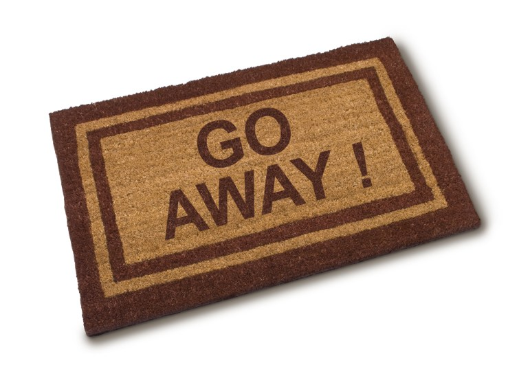 go away welcome mat