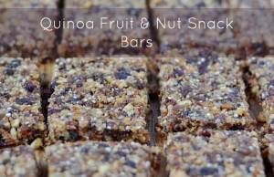 Quinoa Fruit and Nut Snack Bar