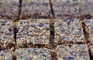 Quinoa Fruit and Nut Snack Bar