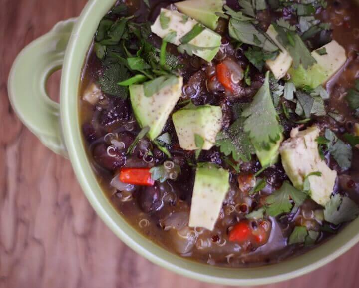 Quinoa Black Bean Pumpkin Soup