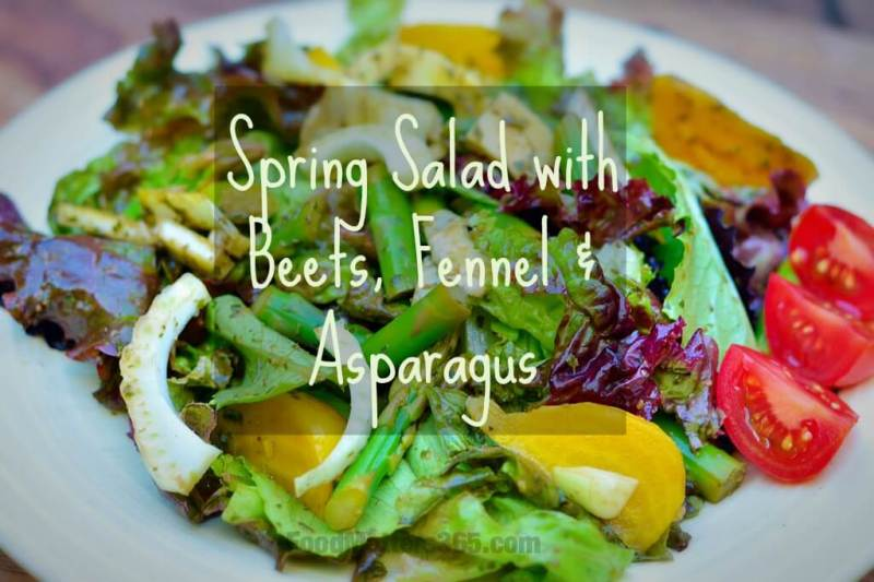 Spring Salad with Beet, Fennel and Asparagus
