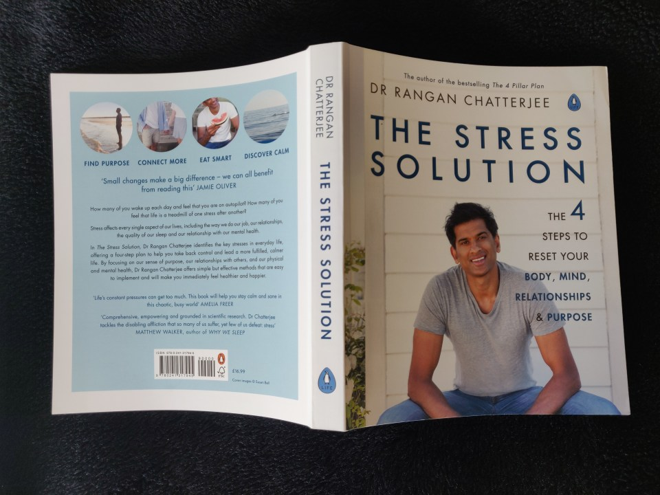 Book Cover of Dr Rangan Chatterjee's - The Stress Solution.
