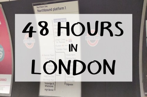 London Bridge Tube Station with Caption: '48 Hours in London'