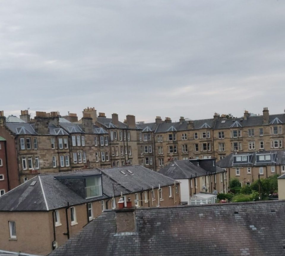 The view from the Airbnb we stayed in during our 24 hours in Edinburgh!