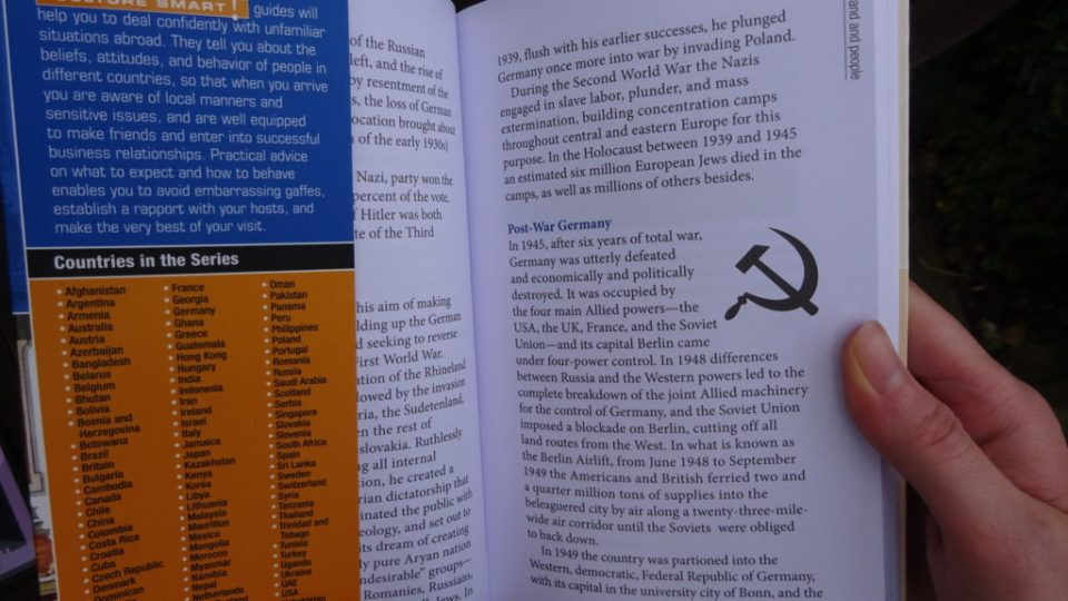 Inside CultureSmart! Germany Guide showing the bookmark