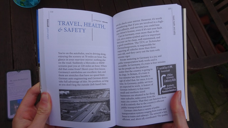 Inside the travel, health and safety chapter