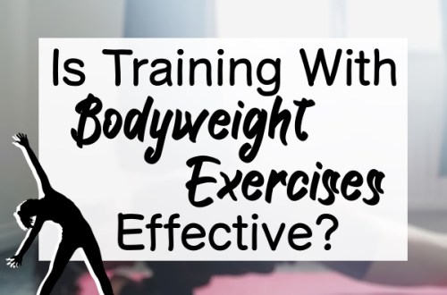 Title Caption of: 'Is Training with Bodyweight Exercises Effective?' with a woman bending to the side.