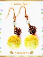 Wool-felt earrings