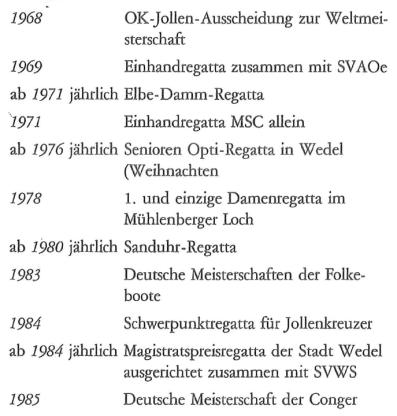 History Regatten bis 1986