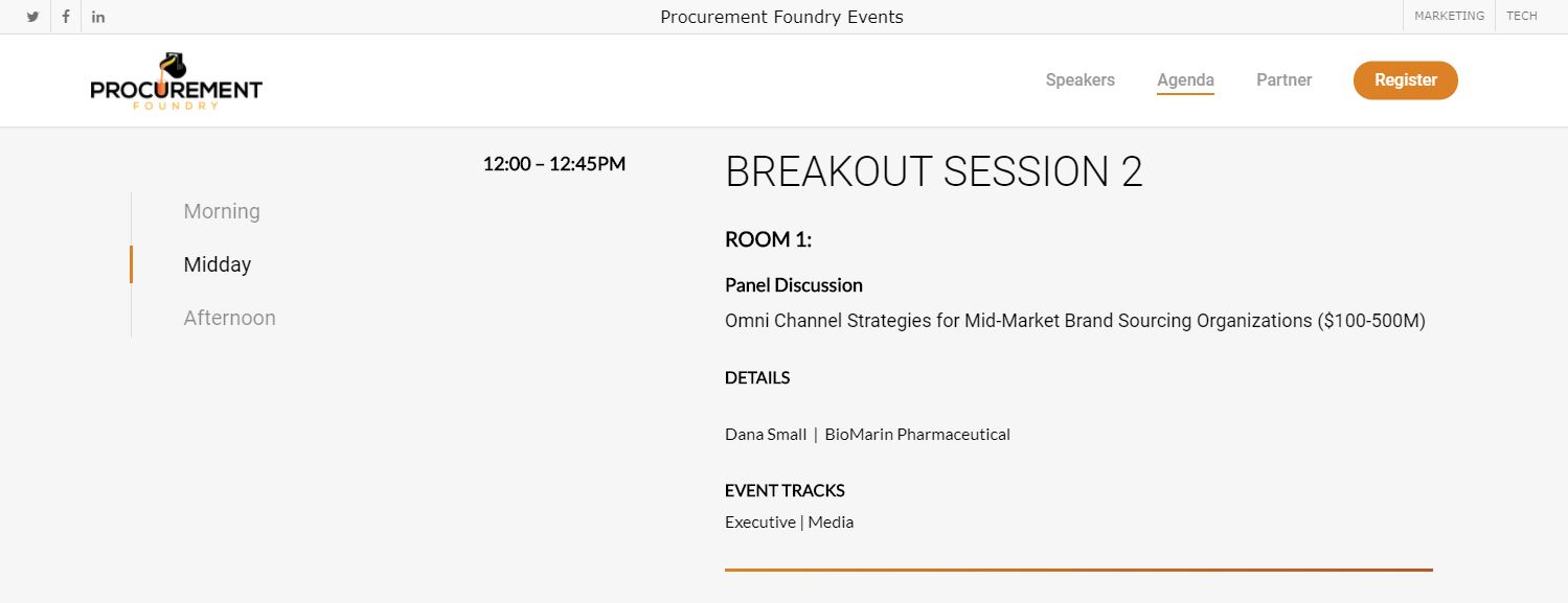 I'm Speaking! An Epic Event: Forge - Marketing Virtual Conference by Procurement Foundry - 10.29.20. Don't Miss out! 2