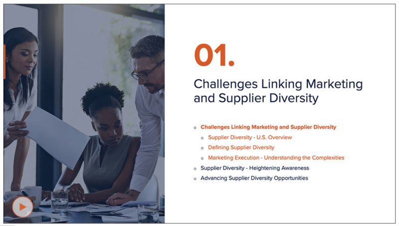 Marketing and Supplier Diversity