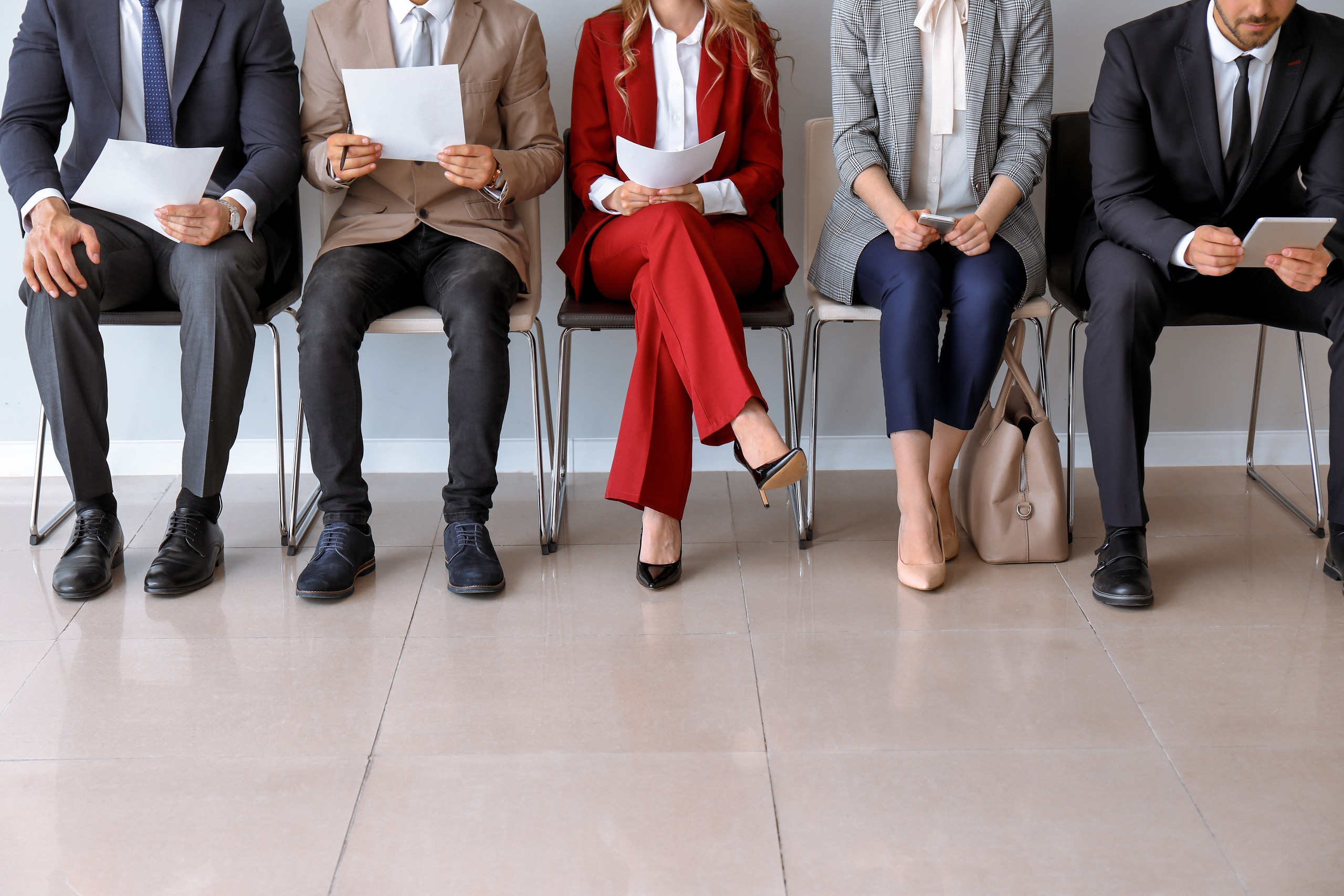People waiting for a job interview