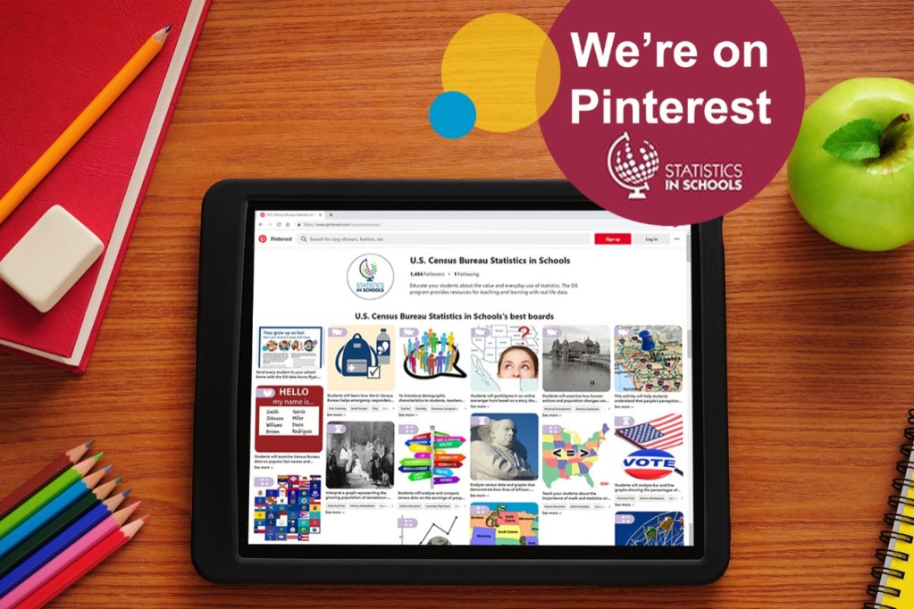 Census Pinterest: Statistics in Schools online