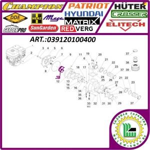 Крыльчатка для мотопомпы Champion GTP 101 E 140x65 мм. 039120100400