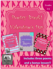 The cover of lesson plans to teach analyzing three different poems.