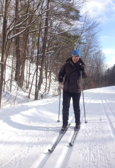 Cross-country skiing in the Gatineau Park