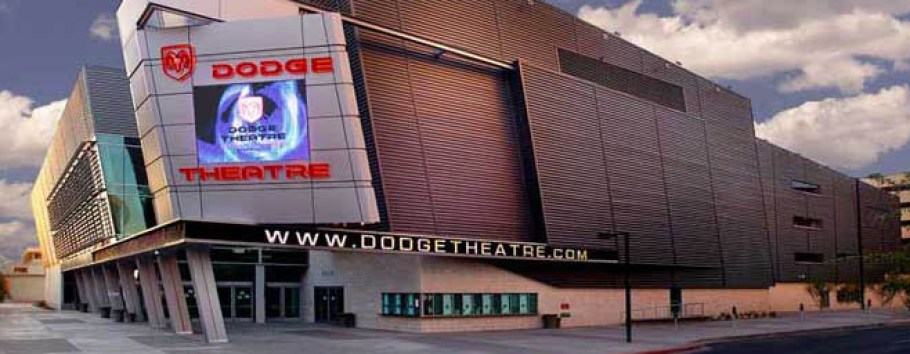 photo of exterior of Phoenix Dodge Theater in Arizona