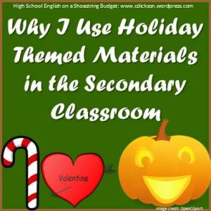 Why I Use Holiday Themed Materials in the Secondary Classroom