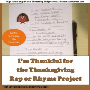 Thanksgiving Rap or Rhyme Project Blog