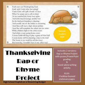 Thanksgiving Rap or Rhyme Project Pin 2
