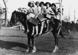 1920s children on horse, State Library of Queensland