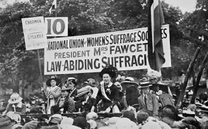 An East London Federation of Suffragettes Rally in 1914