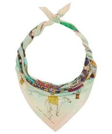 Multi-coloured 10th Birthday Silk Scarf. Swash . 2013.