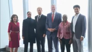 زار الأمير هاري وزوجته ميغان موقع إعادة بناء مركز التجارة العالمي في نيويورك