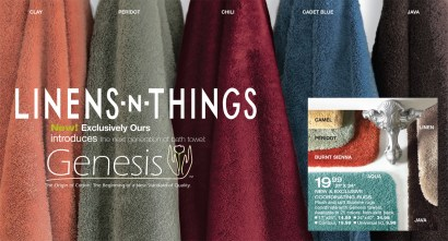Linens Genesis Brand introduction Post Card front