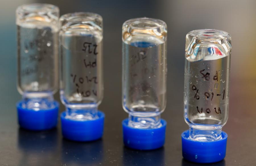 materials science lab close-up