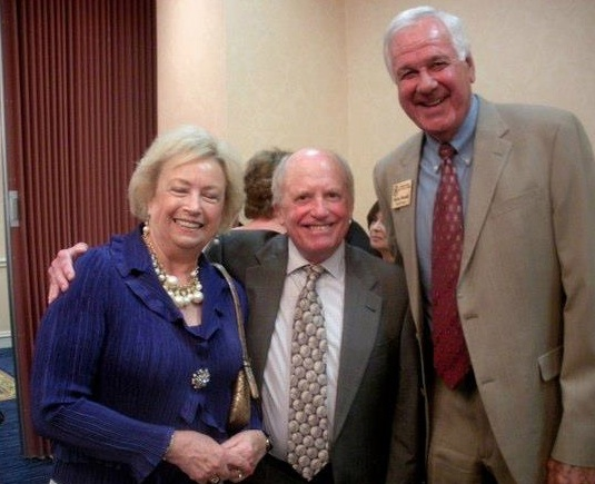Orley Hood, center, surrounded by Mr. and Mrs. Bailey Howell at the MSHoF induction banquet in 2012.