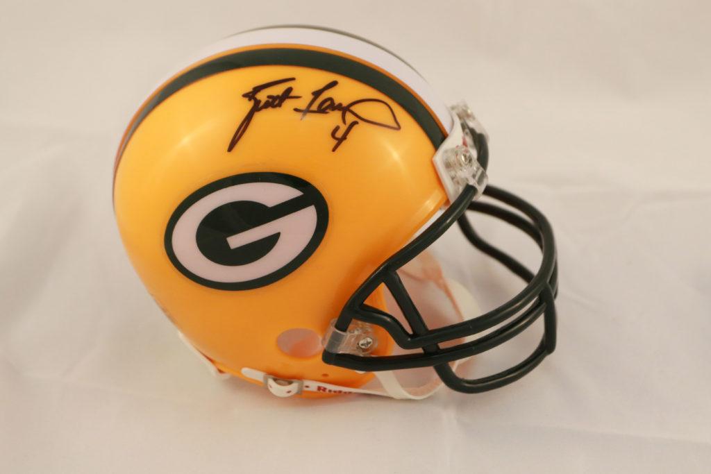 Brett Favre Green Bay Packers Mini Helmet Mississippi Sports Hall Of Fame