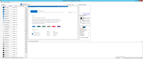 SharePoint Color Palette Tool