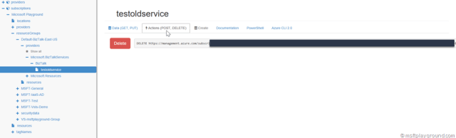 Azure Resource Manager Delete